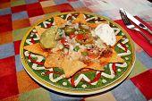 pic of nachos  - Mexican Nachos with cheese - JPG