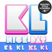 stock photo of letter k  - Vector cute alphabet for children - JPG