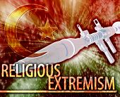 stock photo of war terror  - Abstract background digital collage concept illustration religious extremism terrorism - JPG