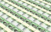 stock photo of korean  - Korean won bills stacks background - JPG