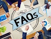 stock photo of faq  - Faq Frequently Asked Questions Guidance Explanation Concept - JPG