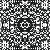 stock photo of aztec  - Vector Geometric background - JPG