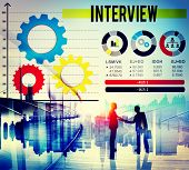 stock photo of interview  - Interview Preparation Interviewer Journalism Ideas Concept - JPG