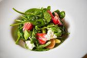 foto of vinegar  - Fresh Salad with strawberries - JPG