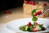 pic of vinegar  - Fresh Salad with strawberries - JPG