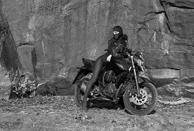 picture of dreadlock  - Biker theme - JPG