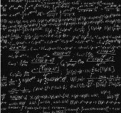 Blackboard With A Math Calculation.