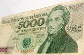 Chopin on Polish banknote