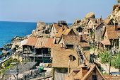 stock photo of popeye  - film set of popeye village in malta - JPG