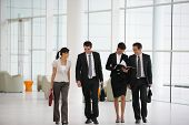 Business people in suit in a company