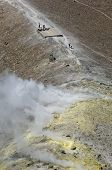 volcano activity, eolie, messina, sicily, italy