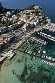 die Mondello Bay, Palermo, Sizilien, Italien