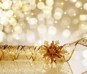 stock photo of boll  - Christmas Ribbon - JPG