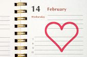 Pictured Heart In Notebook