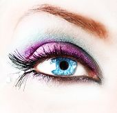 Beautiful abstract woman Eye closeup