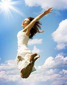 Beautiful Jumping Girl