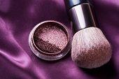 Fundo de acessórios de make-up.Makeup