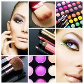 Collage de maquillaje Makeup.Beautiful