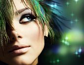 image of beautiful women  - Beautiful Woman Face - JPG