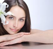 Beautiful Spa Woman portrait.Clear fresh skin