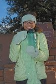 Girlwithfrozenwaterbottle