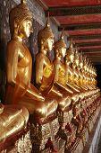 Buddha Statues In Wat In Bangkok