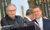 LOS ANGELES - APR 10: Larry King; Regis Philbin at a ceremony where Regis Philbin receives the 2222t