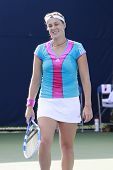 TORONTO: AUGUST 11. Erakovich/Goerges plays against Kuznetsova/Pavlyuchenko in the Rogers Cup 2011 o
