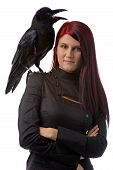Young Witch With Raven