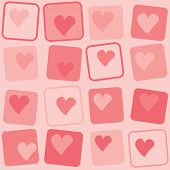 Retro Hearts Background