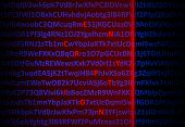 Encryption Concept - Red Laser Decrypting Letters