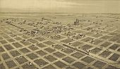 1890 Engraving Of City Of Childress, Texas