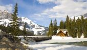 Emerald Lake In Winter, Canadian Rockies