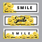 Smile Yellow Balloons Background. Fun Character People, Bright Balloon. Smiley, Funny Friends. Comic poster