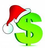 Christmas expenses illustration concept design