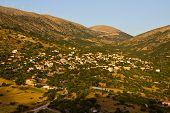 Tradiotinal Greek village at Kefalonia