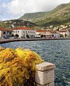 Vathi bay at Ithaki island in Greece