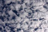 Beautiful Clouds On A Deep Blue Sky.