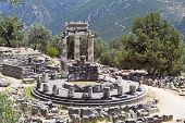 Temple of Athena pronoia at Delphi
