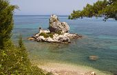 Scenic beach at Poros of Kefalonia