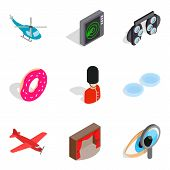 Occupation Icons Set. Isometric Set Of 9 Occupation Vector Icons For Web Isolated On White Backgroun poster