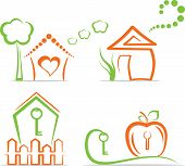 Home (icons), vector illustration