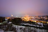 Beautiful Views Of Evening Smolensk In The Winter. Evening Smolensk In Winter - Snow Covered Snow Bl poster