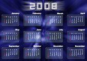 Calendar In Fantastic Style - 2008