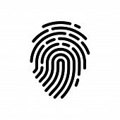 Fingerprint Icon Isolated On White Background. Fingerprint Icon Modern Symbol For Graphic And Web De poster