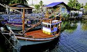 Colorful Thai Fishing Boats