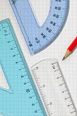 Protractor,Set Square,Ruler,Pencil
