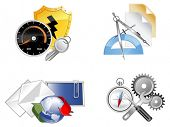 Set of web icons, vector illustration