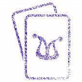 Grunge Joker Gambling Cards Rubber Seal Stamp Watermark. Icon Symbol With Grunge Design And Scratche poster