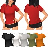 Woman's t-shirt. Raster version of vector illustration.